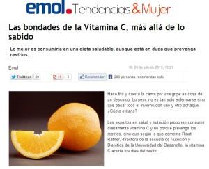 Las bondades de la Vitamina C