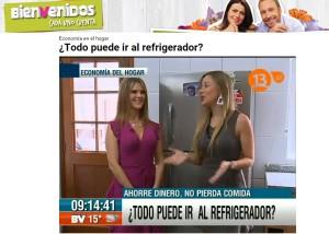 Todo puede ir al refrigerador - Bienvenidos Canal 13 25 de marzo 2015