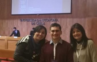 Alumno de Nutrición y Dietética UDD presentó su avance de tesis en Congreso Nacional