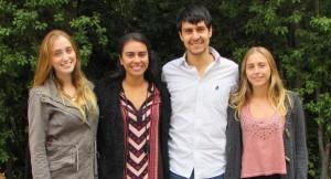 Equipo SOCIAL UDD: Bianca Sciarresi, Francisca Verdugo, Matías Fuentes y Francisca Soto