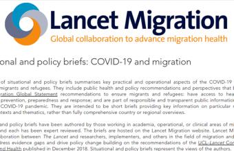Publican en Lancet Migration reporte sobre caso de migrantes internacionales en Chile durante la pandemia
