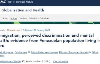 Directora de Proessa UDD participó en artículo científico publicado en la revista Globalization and Health